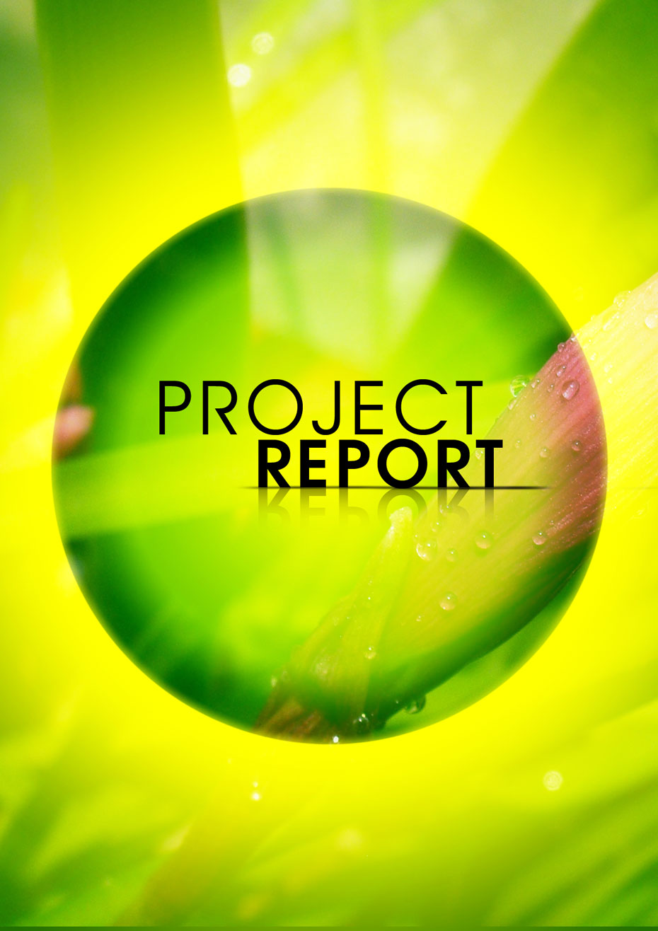 cover page design for project report